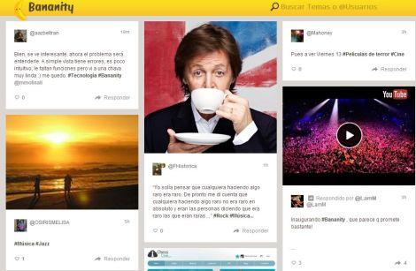 Bananity se enfoca en los intereses del usuario (Captura de pantalla)