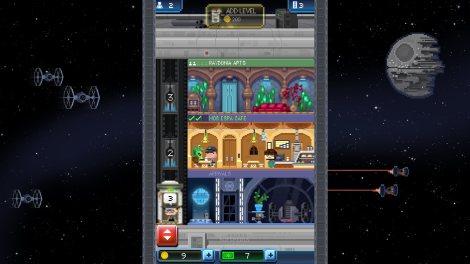 El juego propone una percepción totalmente vintage de Star Wars (Captura de pantalla)